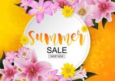 De lente en de zomerverkoopconcept stock illustratie