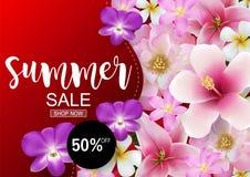 De lente en de zomerverkoopconcept vector illustratie