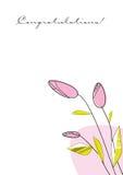De lente flowers_corner Royalty-vrije Stock Afbeeldingen