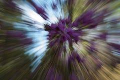 De lente Forest Abstract Swirl, selectieve nadruk royalty-vrije illustratie