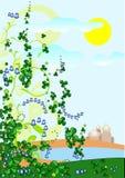 De lente geïllustreerdr landschap Stock Afbeelding