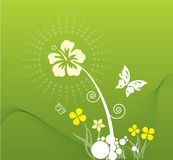 De lente in groen stock illustratie