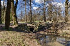 De lente in het park van Catherine in Tsarskoye Selo Royalty-vrije Stock Foto