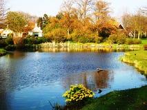 De lente in het park Wilhelminaplantsoen in Hoorn, Holland, Nederland stock foto