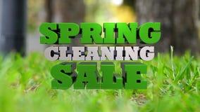 De lente het schoonmaken verkoop - marketing en reclame royalty-vrije illustratie
