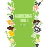 De lente het Tuinieren Hulpmiddelenreeks, Vectorillustratie Royalty-vrije Stock Foto
