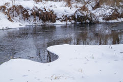 De lente, ijssmeltingen op de rivier Stock Fotografie