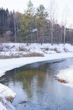 De lente, ijssmeltingen op de rivier Royalty-vrije Stock Fotografie