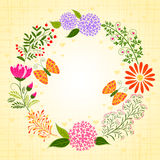 De lente Kleurrijke Bloem en Vlinder Stock Fotografie