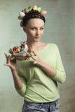 De lente, kleurrijke vrouw Royalty-vrije Stock Fotografie