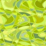 De lente kleurt geel en van de kalkzigzag en werveling ononderbroken patroon vector illustratie