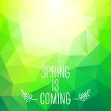 De 'lente is komende' abstracte veelhoekige achtergrond. Kan gebruikte FO zijn Stock Afbeelding