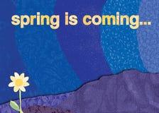 De lente komt royalty-vrije illustratie