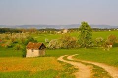 De lente in landelijk Duitsland Royalty-vrije Stock Foto's