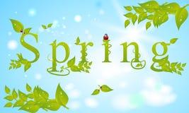 De lente met bladeren Royalty-vrije Stock Afbeelding