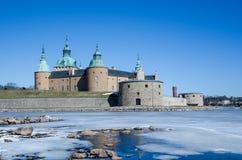 Het middeleeuwse kasteel van Kalmar in Zweden Royalty-vrije Stock Afbeelding