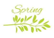 De lente met Wild Gras op Affiche met Reusachtig Teken stock illustratie