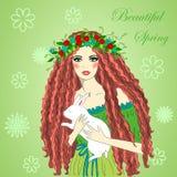 De lente Mooi meisje Stock Fotografie