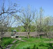 De lente in Oekraïens Dorp Stock Foto's