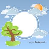 De lente om achtergrond vector illustratie