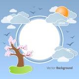 De lente om achtergrond stock illustratie