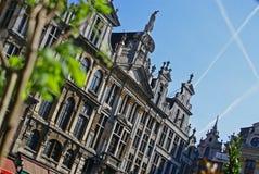 De lente op de Grote Plaats in Brussel Royalty-vrije Stock Foto
