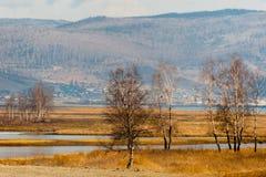 De lente op Road circum-Baikal aan het zuiden van Meer Baikal Stock Foto