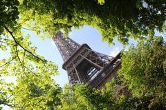 De lente in Parijs, de Toren van Eiffel stock fotografie