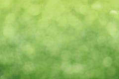 De lente schittert vers groen licht abstract onduidelijk beeld Stock Foto