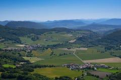 De lente in steden en landbouwbedrijven, Navarra royalty-vrije stock afbeelding