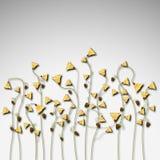 In de schaduw gestelde de lente bloeit malplaatje Royalty-vrije Stock Afbeeldingen