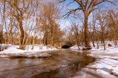 De lente strim in Warme tijd Minnesota royalty-vrije stock fotografie