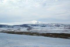 De lente in toendra (het noorden Sibiria) Royalty-vrije Stock Foto