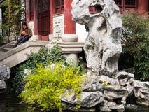 De lente in traditionele Chinese tuin Stock Fotografie