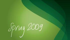 DE LENTE VAN 2009 OP GROEN Stock Afbeelding