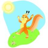 De lente van de eekhoorn Stock Afbeelding