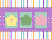 De lente van de kleurenprentbriefkaar op de uitstekende achtergrond Materieel Ontwerp Royalty-vrije Stock Fotografie