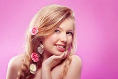 De lente van de vrouw Royalty-vrije Stock Afbeeldingen