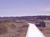 De lente 3552 van de strandpromenade royalty-vrije stock fotografie