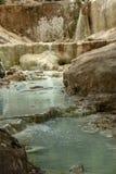 De lente van thermisch water van Bagni San Filippo stock afbeeldingen