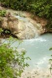 De lente van thermisch water van Bagni San Filippo stock fotografie