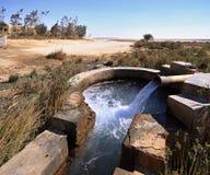 De lente van water in oase royalty-vrije stock afbeeldingen