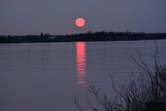 De lente zonsondergang-1 Stock Afbeeldingen