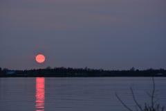 De lente zonsondergang-2 Stock Fotografie