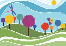 De lenteachtergrond stock illustratie