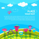 De lenteachtergrond. Royalty-vrije Stock Afbeelding