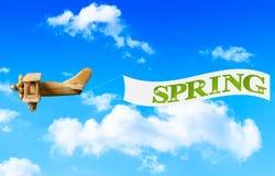 De lentebanner Stock Afbeeldingen