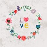 De lentebloemen, bladeren, paardebloem, gras op een uitstekende achtergrond Royalty-vrije Stock Fotografie