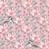 De lentebloemen en vogels, naadloos patroon vector illustratie