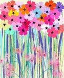 De lentebloemen, illustratie Stock Afbeeldingen